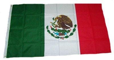 Flaggenking Mexico Flagge/Fahne - wetterfest, weiß, 150 x 90 x 1 cm, 16898 - Outdoor-flagge