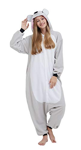SAMGU Adult Pyjama Cosplay Tier Onesie Body Nachtwäsche Kleid Overall Animal Sleepwear Erwachsene Koala XL