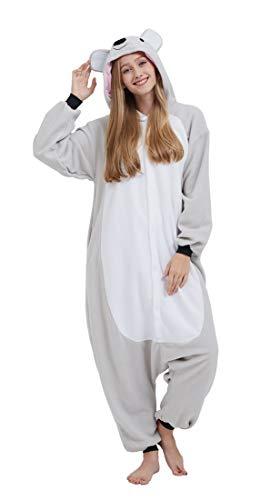 SAMGU Einhorn Adult Pyjama Cosplay Tier Onesie Body Nachtwäsche Kleid Overall Animal Sleepwear Erwachsene Koala S