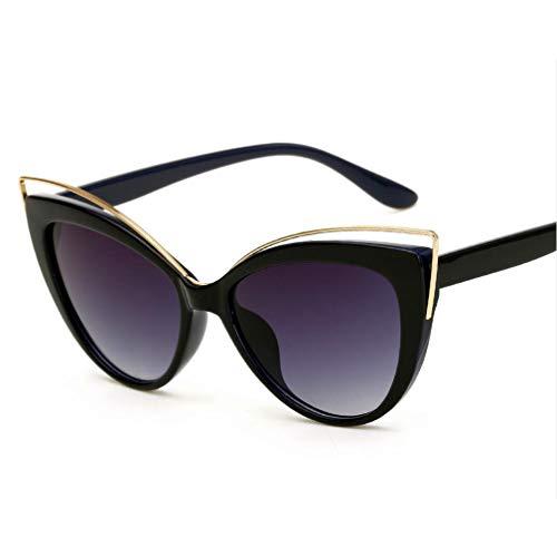 Retro Sonnenbrille für Damen, mit stilvollem großem Rahmen Runde Vintage Eyewear 100% UV Protection Eyewear,F