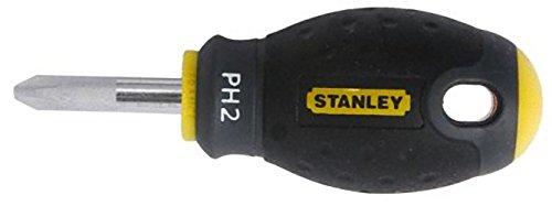 Stanley FatMax Schraubendreher Phillips PH2 (30 mm Klingenlänge, Chrom-Vanadium Stahl, ergonomischer SoftGrip) 0-65-407