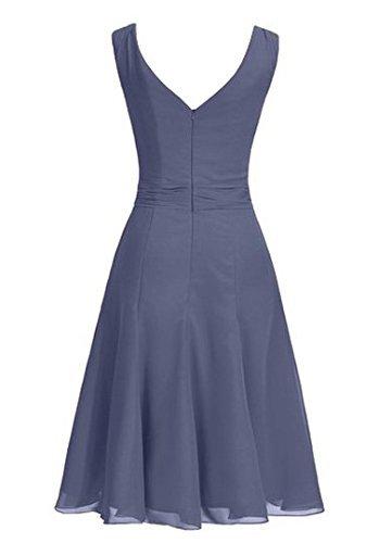 Fanciest Damen Straps Beaded Kurz Brautjungferkleider Purple Wedding Party Dress Black