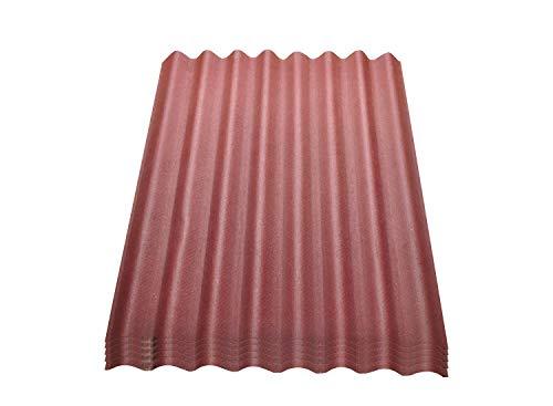 Onduline Easyline Dachplatte Wandplatte Trapezblech Wellplatte 5x0,76m² - rot