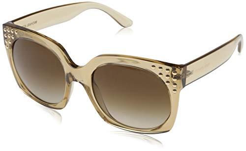 Michael Kors Damen Destin 334313 56 Sonnenbrille, Light Brown Crystal/Smokegradient