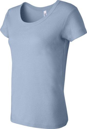 Ladies'Tee Shirt Short Sleeve Scoop Blau - Babyblau
