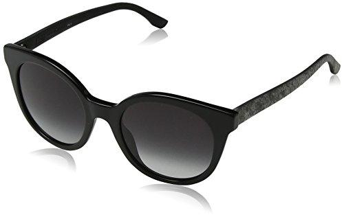 BOSS Hugo Damen 0890/S 9O UI5 Sonnenbrille, Schwarz (Blk Blkrubbe/Dark Grey Sf), 51