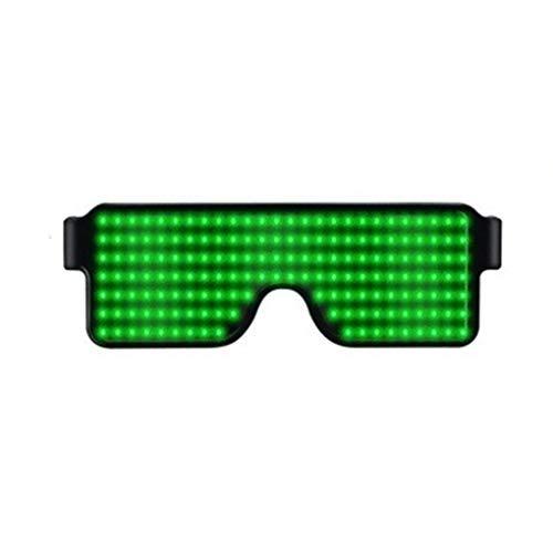 Meisijia Frauen Männer Cosplay-Kostüm-Partei LED Brille Mädchen-Jungen-Club Bar Pub dekorative Gläser USB-Anschluss Wiederaufladbare (Kabel Mann Kostüm)