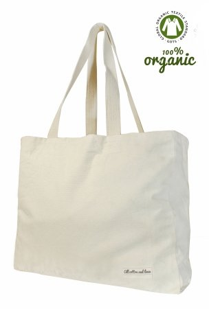 Alle Baumwolle und Leinen - Leinwand-Tragetaschen-Weiß Einkaufstasche(35x43x12cm) ()