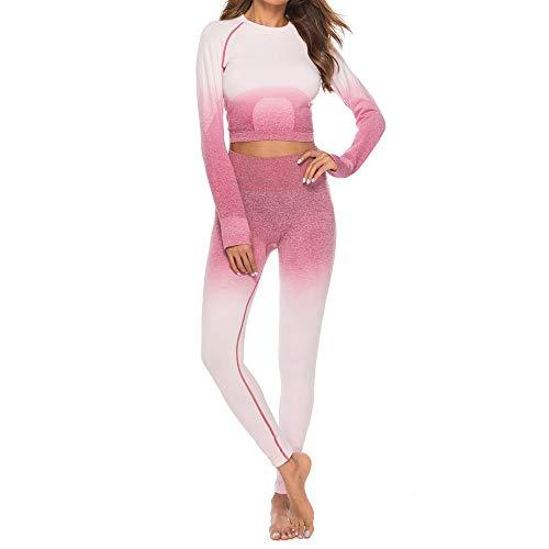 VJGOAL Yogahosen für Damen High Waist Leggings Freizeit Lange Ärmel Sport Tops+Women Yoga (Machen Lego Kostüm Händen)