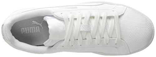Puma Smash Deboss Synthétique Baskets Puma White-puma White
