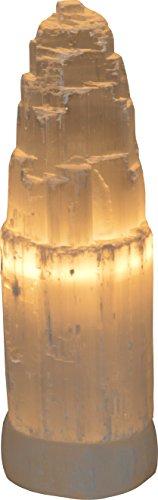 Selenite torre naturale / Iceberg Lampada da tavolo - H34 (La Maison Cristallo)