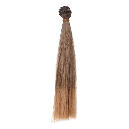 Vektenxi Hochwertige Mode 25 cm Großhandel glattes Haar Haar DIY/BJD Perücke Puppe L