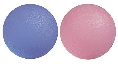 ResultSport® Trainingstherapie-Gel-Bälle für Arthritis in Hand, Finger, Handgelenk. Set von 2 Stück. Hart und weich