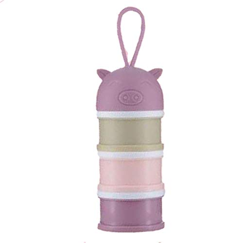 Pinzhi Tragbare Baby-Säuglings Fütterung Milchpulver & Lebensmittel Flasche Container 3 Zellen Raster Praktische Box(Lila)