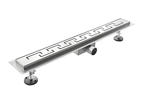 Laneri Canalina di Scarico per Piatto Doccia a Pavimento, Acciaio Inox, Spirale, 60 x 7 cm