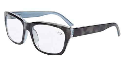 Eyekepper Polycarbonat groß Objektiv fast unsichtbare Linie Bifocal Brille Leser Männer Grey +2.5