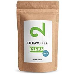 DUAL CLEAN - 28 Days PureTox Tea  Pour les Femmes et les Hommes Complexe Actif à Base d'Herbes   85g en Vrac  Complément 100% Naturel Sans Additifs  Végétalien et Sans Gluten   Fabriqué en Allemagne