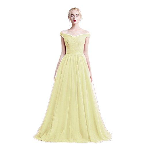 Vimans -  Vestito  - linea ad a - Donna Light Yellow