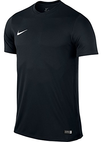Nike Herren Kurzarm Trikot Park VI, Schwarz (Black/White), M (Mesh-einsatz Seite)