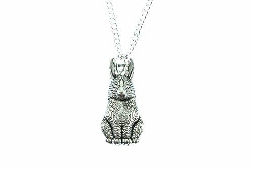 coniglio-collana-miniblings-45-cm-conigli-coniglietti-oster-leprelepre-di-catena-argentata