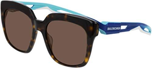 Balenciaga Sonnenbrille BB 0025 S-002 HAVANA/BROWN BLUE