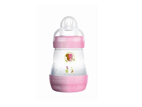 Mam - Biberón anticólicos (160ml, 0-6 meses, 1 caudal) Transparent pink
