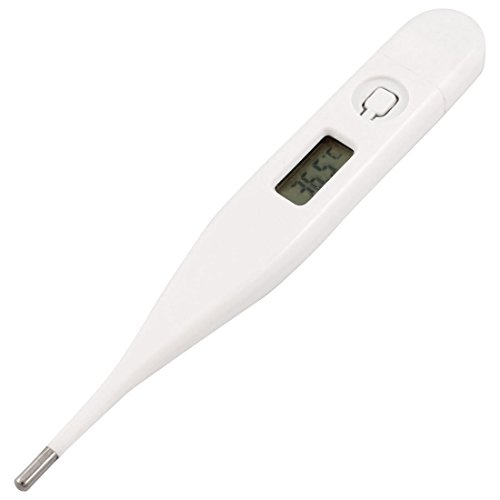 Weiße Kunststoff-Shell LCD Display Digital-Thermometer 32-42 Celsius -