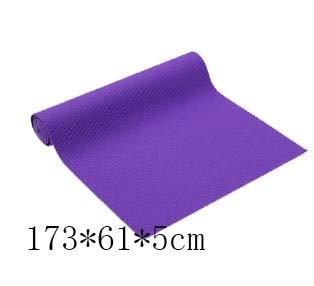 YOOMAT PVC-Yoga-Matte 6mm 173 * 61cm Doppelseite Faltbare Gym Fitness Pad Rutschfeste Rutschfeste Pilates-Matte langlebig 8mm Yoga-Matte PVC, Burgund -