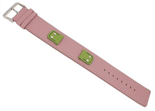 Bruno Banani Ersatzband Uhrenarmband Leder Band rosa glatt für Rectangular Ladies 33208