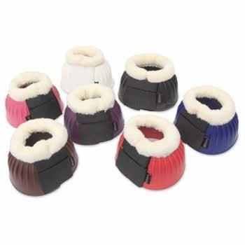 Shires OverReach Boots Fur Trim Purple Full