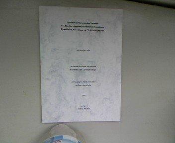 Synthese und dynamisches Verhalten von Bis(ether-phosphan)ruthenium(II)-Komplexen. Quantitative Auswertung von 31P-DNMR-Spektren. Dissertation.