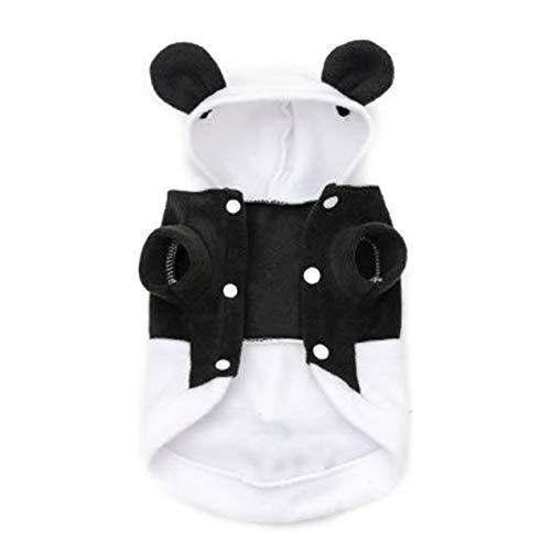 Schwarzweiß-Panda Verwandlungs Zwei Beine Hunde Shirts Polar Fleece -