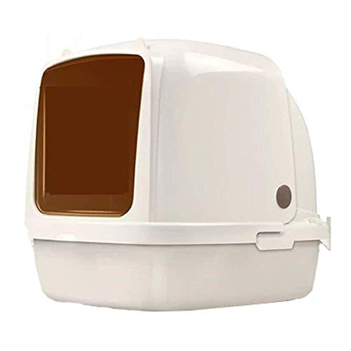 Hooded Cat Litter Boxes with Lid,Large Space Closed Cat Litter Tray, Pet Plastic Supplies (Size : 64X47X49CM)