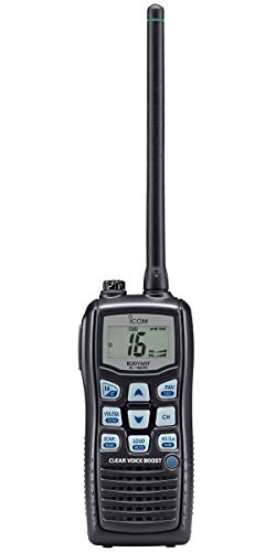 Icom M35 Wasserdichtes Handheld-UKW-Radio - IPX7 wasserdichter Schutz - 1 m Tiefe für 30 Minuten - Handheld Ukw-radio