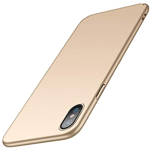 Preisvergleich Produktbild for iPhone x / iPhone 10 Hülle,  ZUERCONG [Matte Serie] Ultra Slim Cover Case Anti-Fingerabdrücke Anti-Scratch Shockproof Handytasche Hartplastik Schutzhülle für Apple iPhone x 5.8 Zoll,  Glattes Gold