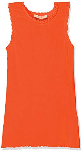 Scotch & Soda R´Belle Mädchen Basic Rib Tank with lace Details at Armhole and Neckline Top, Rot (Hot Coral 463), 116 (Herstellergröße: 6) -