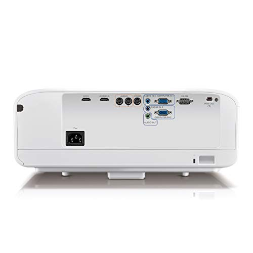 31O%2BWocWjeL. SS500  - BenQ W1600UST 1080p DLP Home Cinema Projector, Ultra Short Throw, 3300 Lumens, 13000:1 Contrast Ratio with 2 x 10 W Speakers, HDMI, White