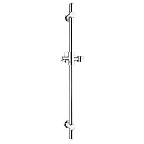 KES SUS 304 Edelstahl Brausestange Metall mit Brausehalter Duschstange Dusche Brause, Polierte Oberfläche, F203
