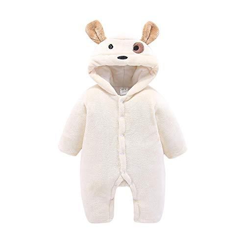 hen Schneeanzüge Winter Langarm Tasten Cartoon Hoodie Baby Neugeborenen Fleece Verdickte Wärme Strampler Overall Winter ()