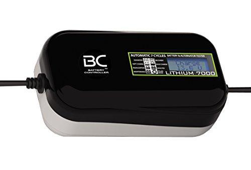 BC LITHIUM 7000-12V 7A - Caricabatteria e mantenitore automatico e digitale per batterie al litio/LiFePO4 + Tester di batteria e alternatore