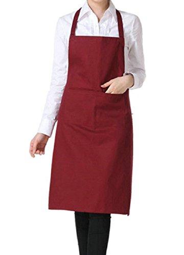 Cosanter Unisex Tablier de Cuisine Couleur Pure Cooking Aprons Résistant pour Cuisine Restaurant Café