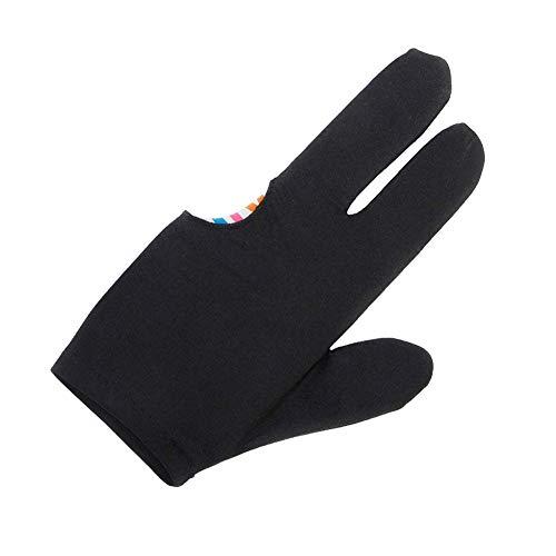 Naisidier 3 Finger Billard Handschuh Snooker Cue Shooters Handschuhe Universal-Billard-Handschuh Schwarz