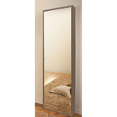 Scarpiera Specchio Nettuno - Rovere Grigio