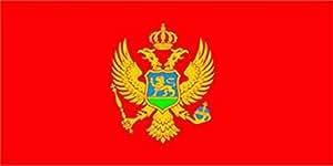 Flagge Fahne Montenegro, ca. 300 x 120 cm Hochformat, 110 g/m² Polyesterwirkware