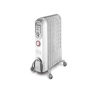 De'Longhi Vento V550920T – Calefactor, 2000 W, 60 m³, blanco
