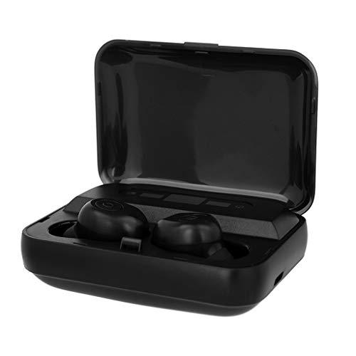 Mini Twins True Wireless Sport Ohrhörer In Ear Stereo Kopfhörer Workout Headsets mit Wireless Ladestation Workout Headsets mit Wireless Ladestation (Schwarz)