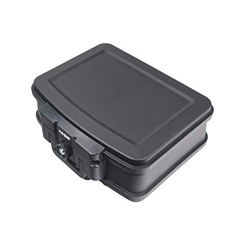 HMF 250452 Feuerfeste Wasserdichte Dokumentenbox | 44,5 x 16,5 x 33 cm | DIN A4 | schwarz