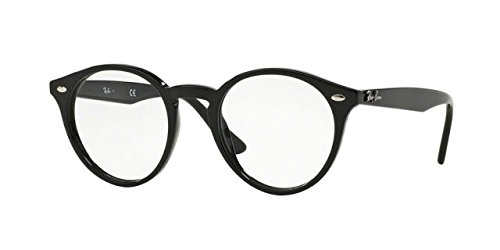Brillen Ray-Ban ROUND RX 2180V BLACK Herrenbrillen