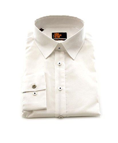 Seidensticker Herren Langarm Hemd UNO Super Slim Stretch weiß strukturiert 572090.01 Weiß