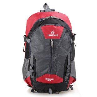 HTRPF Outdoor tragbare Bergsteigen Tasche wasserdichte Männer und Frauen Outdoor-Reise Rucksack Sport-Paket Red